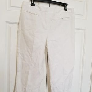 Chico's Crop Capris Pants Sz 1.5    8-10 White